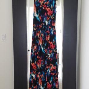 Multi Color Sleeveless Maxi Dress